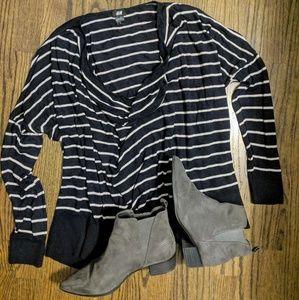 H&M Light Stripe Sweater